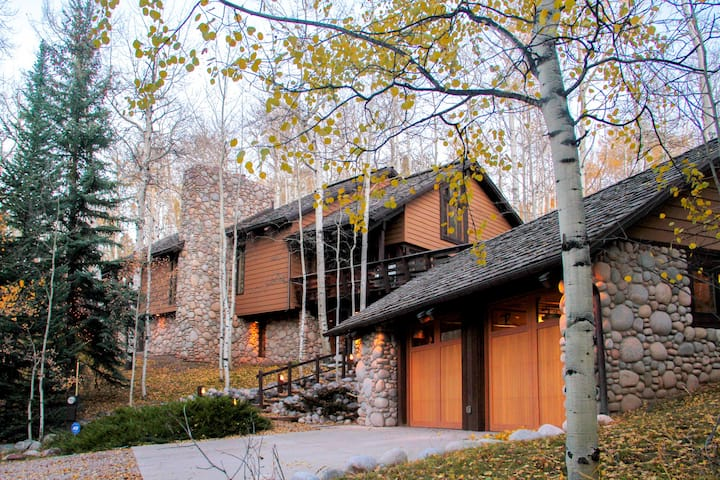 Stone-Built Snowmass Village Home w/ Scenic Charm!