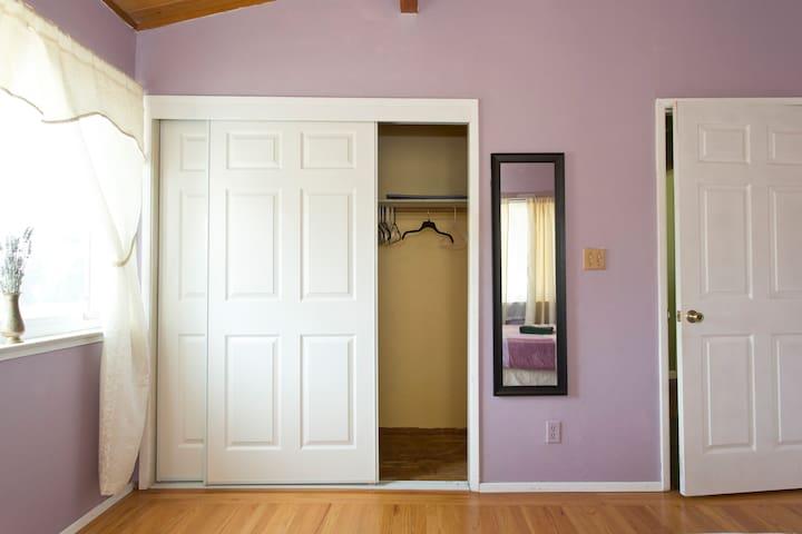 Bedroom with big closet