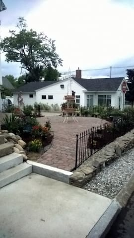 Newly landscaped patio/terrace.