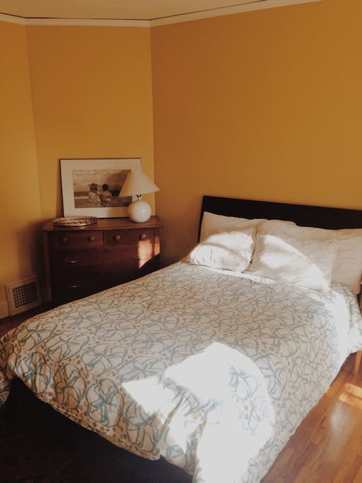 Full/Double Bed with side-table and nightstand
