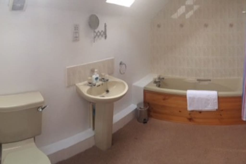 Large en suite bathroom with shower and bath
