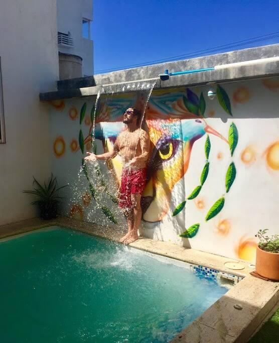 Cascada piscina
