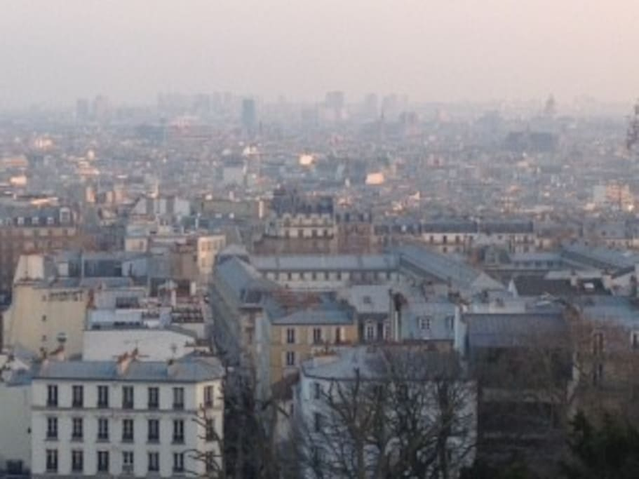 A view of Paris from Montmatre