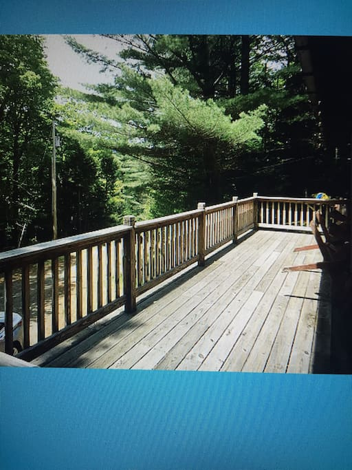 Deck off of living room
