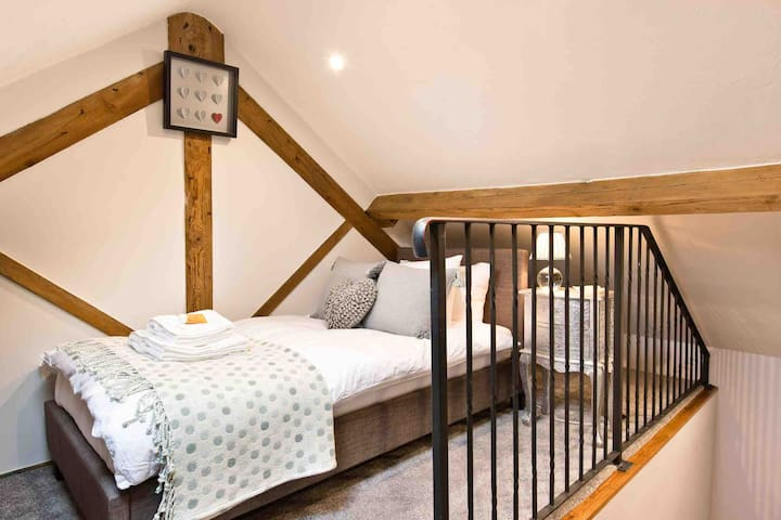 One of the 2 single first floor bedrooms each with their own staircase