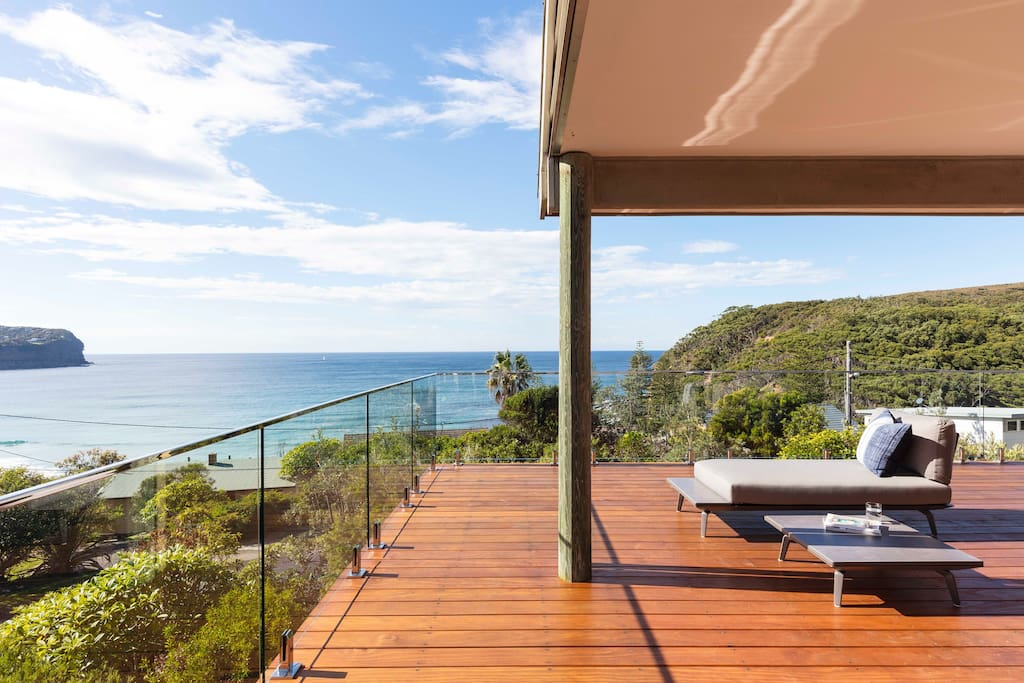 Gracious outdoor living on the oversized top deck