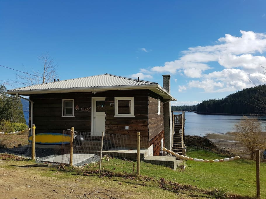 Charming & Rustic cedar clad Cottage originally barged up from Vancouver in the 90's and given a new purpose.