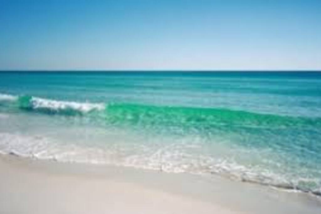 Panama City Beach - the water color changes daily.