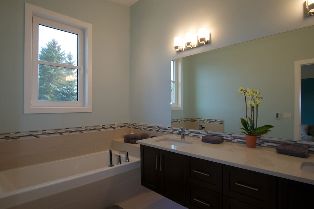 Master Ensuite - Bath, double vanity, separate shower