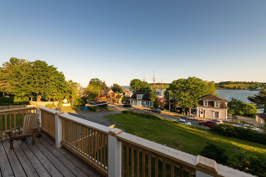 Fantastic view!  Picture yourself having your morning coffee or an evening drink on this lovely deck.
