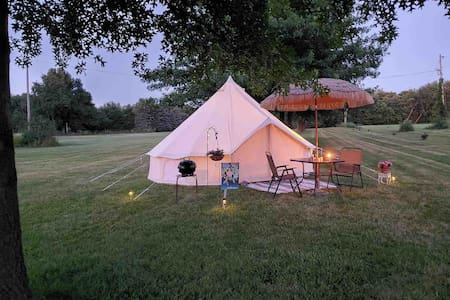 River Bottoms Bell Tent - With Electricity!