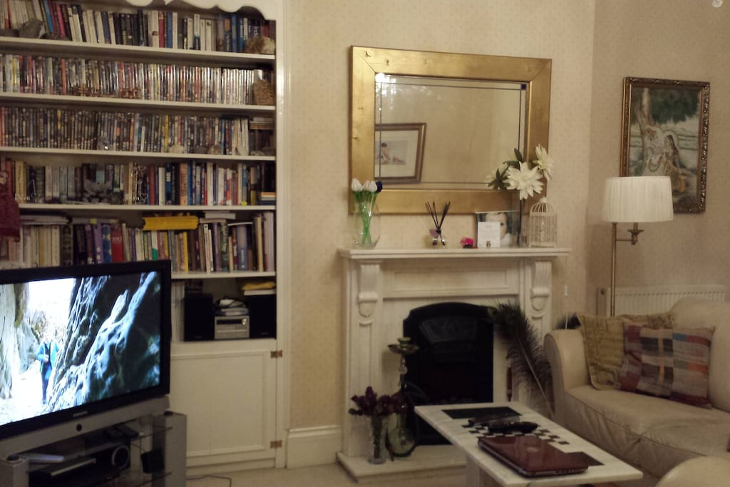 Another view of the living room, large 42'' TV with Virgin Media and wifi and wifi access.