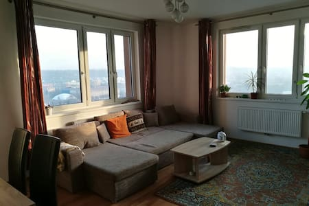 Spacious one bedroom apartment with a view