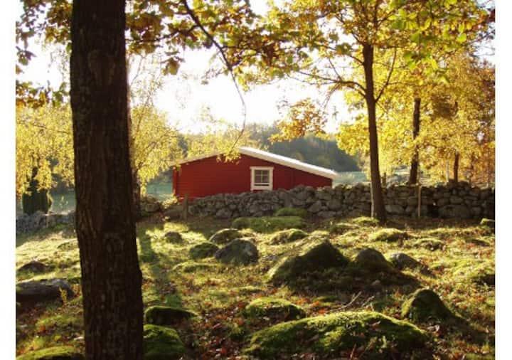 Stuga med närhet tillbad och natur - Ljungen