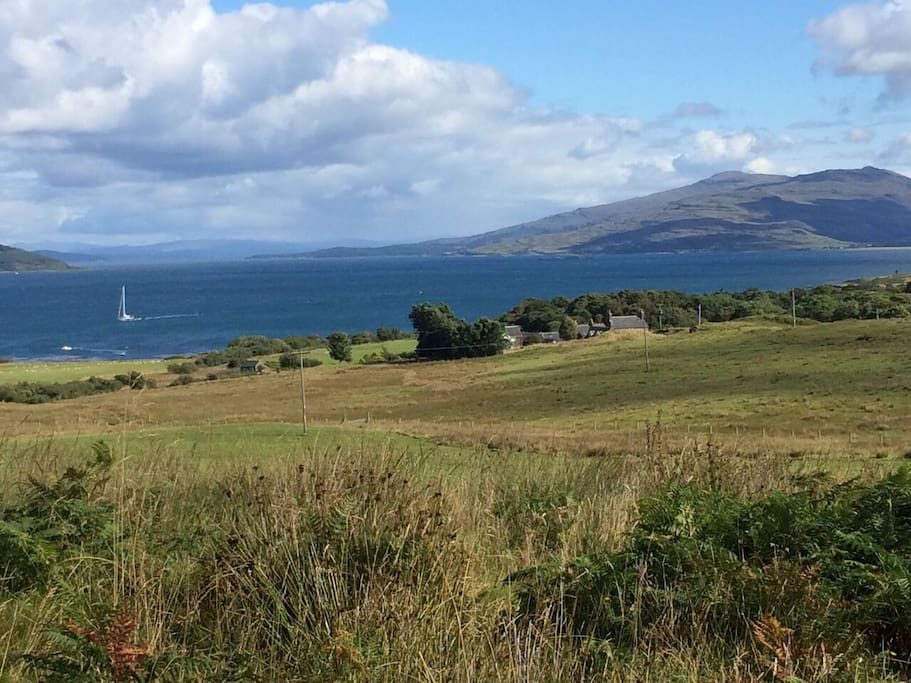 View of the Sound of Mull including Ardnacross
