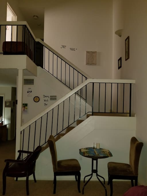 Here is the downstairs with seating for a lovely cup of tea or sandwich after a long day of sightseeing in Savannah!