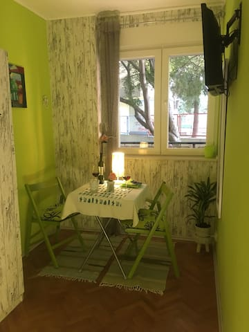 Green room (free parking),near to city center