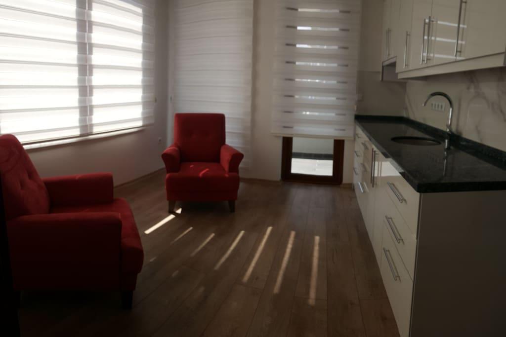 tek kişilik  1+1 apart Salon