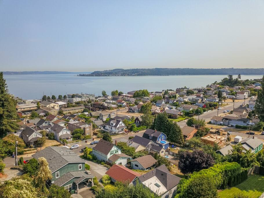 The best neighborhood in Tacoma, views of Old Town, Commencement Bay