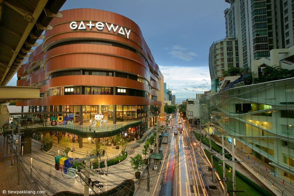 GateWay Department store.  Big shopping mall full of restaurants, supermarket, all things you need - just 3 minutes walk next to your place.  This picture is taken from BTS Ekkamai station where sky walk connected to the mall.