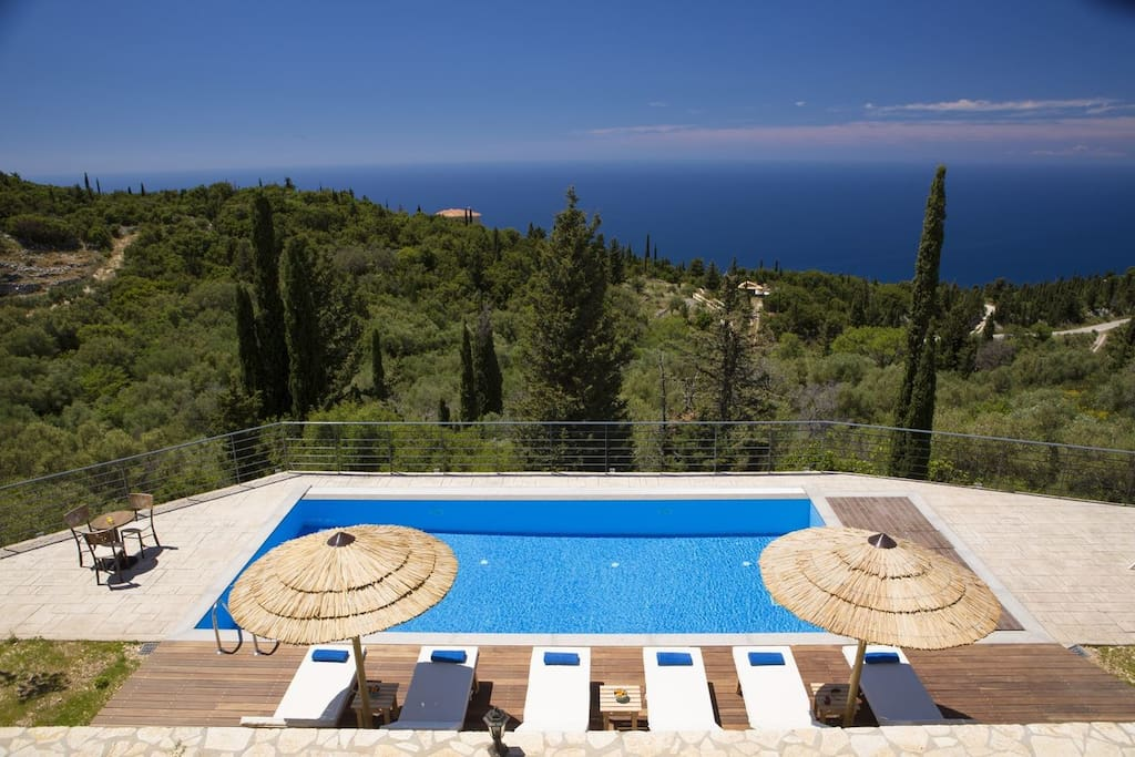 Luxury Villa Artemis with amazing Ionian sea view