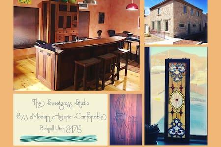 The Sweetgrass Studio: 1873 Modern: Historic: Cozy