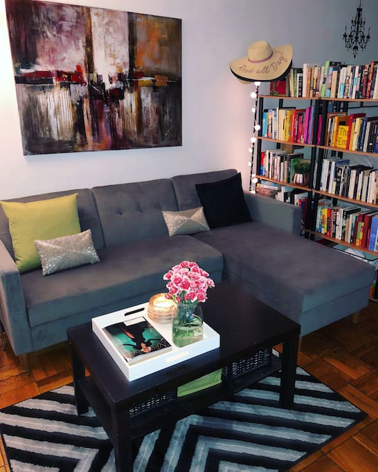 Living room area –big couch!