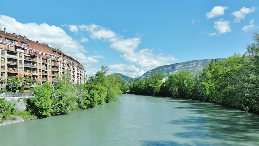 Un grand studio au bord de l'Arve - Carouge - Flat