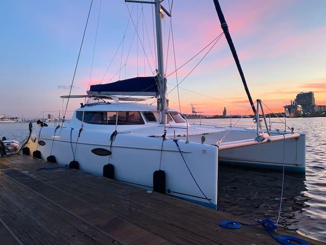 Luxury Catamaran at Charleston Harbor Resort