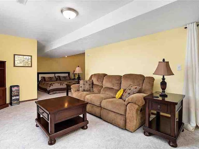 Spacious King Bed &Living Area near St.L/Scott AFB