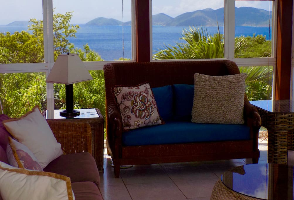 Comfortable Caribbean Cottage at the top of 101 stairs.