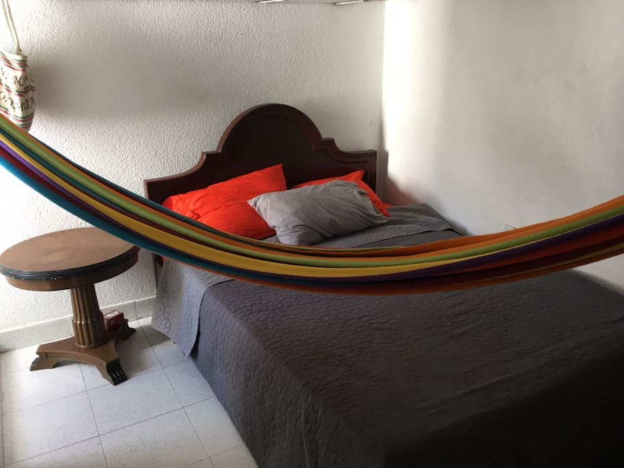 Private bedroom w/ hammock and closet space