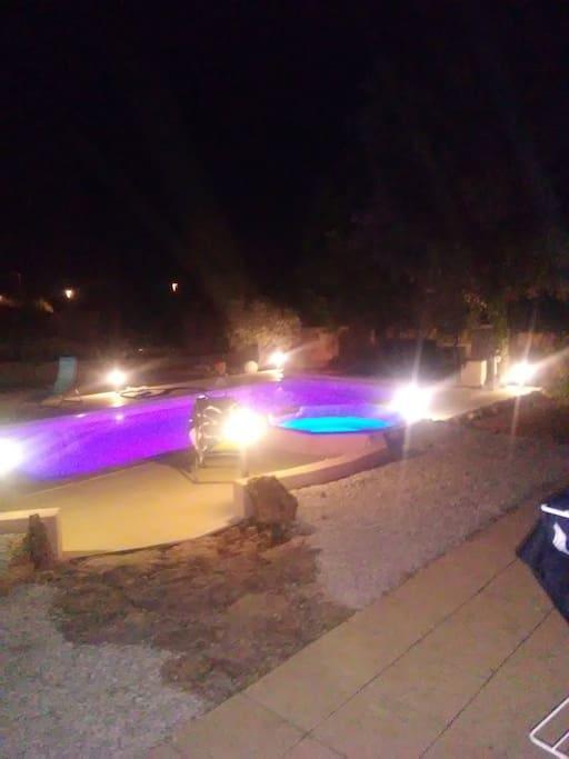 piscine eclairee