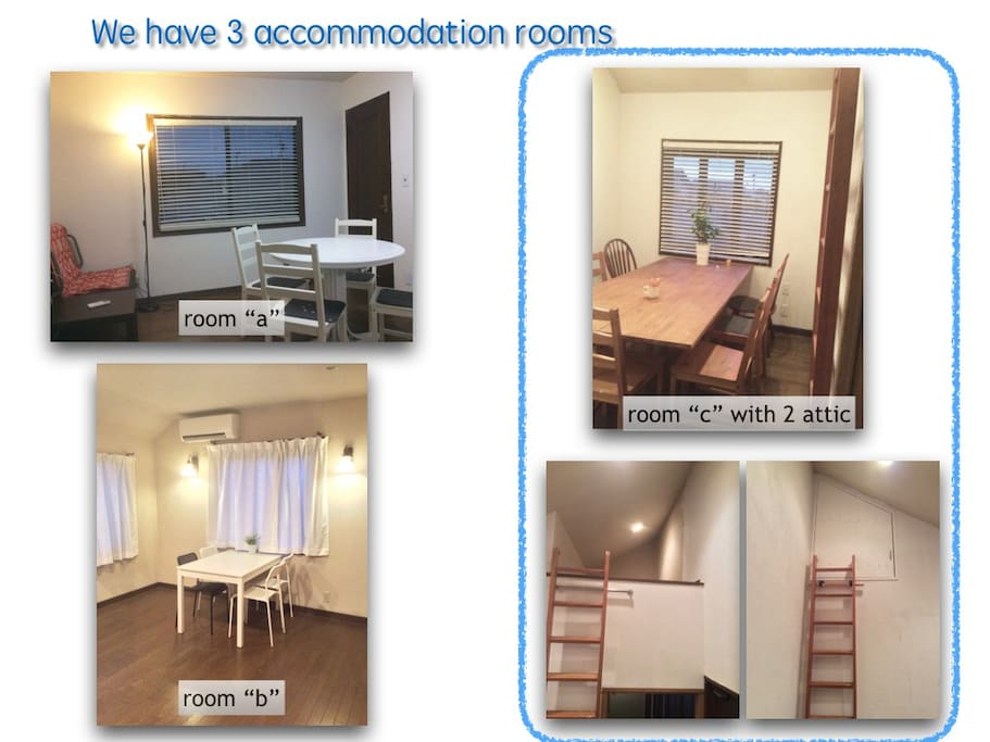 "This room is the room ""a"" Available 3 rooms."