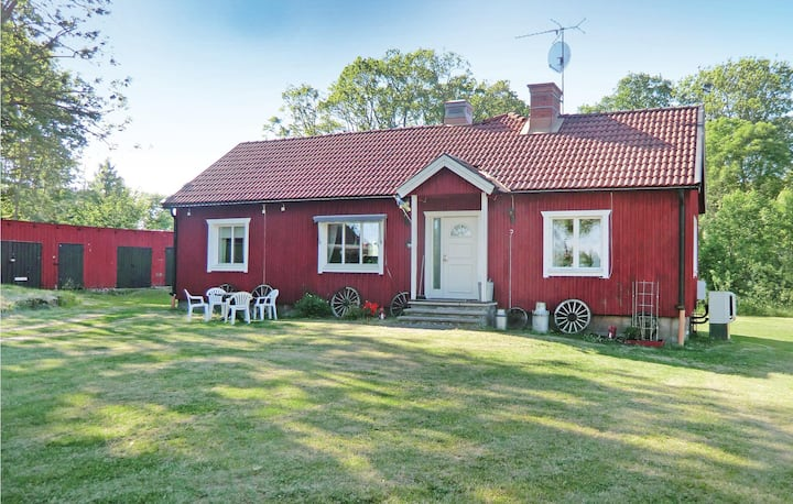 Amazing home in Rockneby with Sauna and 3 Bedrooms