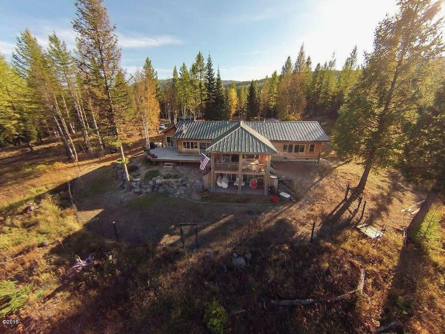 Back of the cabin on a hillside