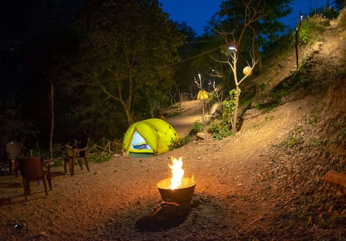 Personalized tents on Camping ground 1