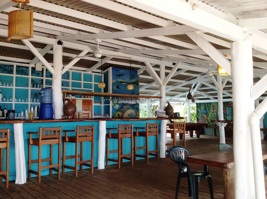 Our restaurant and bar is a popular hang-out and stopping spot along the dirt road