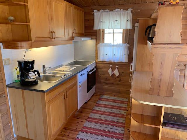 Kjøkken (er nylig satt inn ny oppvaskmaskin og komfyr)