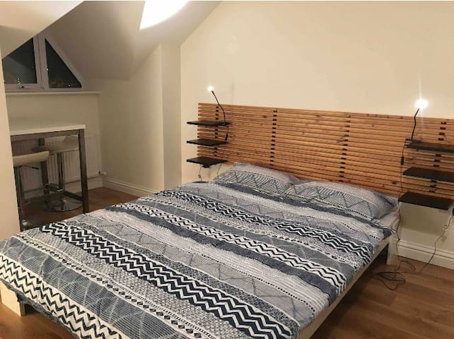 Dublin airport, large private room in family house