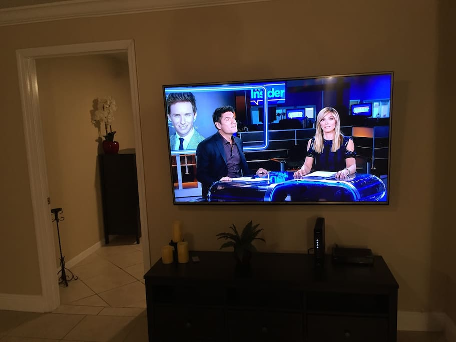 """65"""" HD 4K TV with XFinity Cable package (140 channels) plus  internet"""