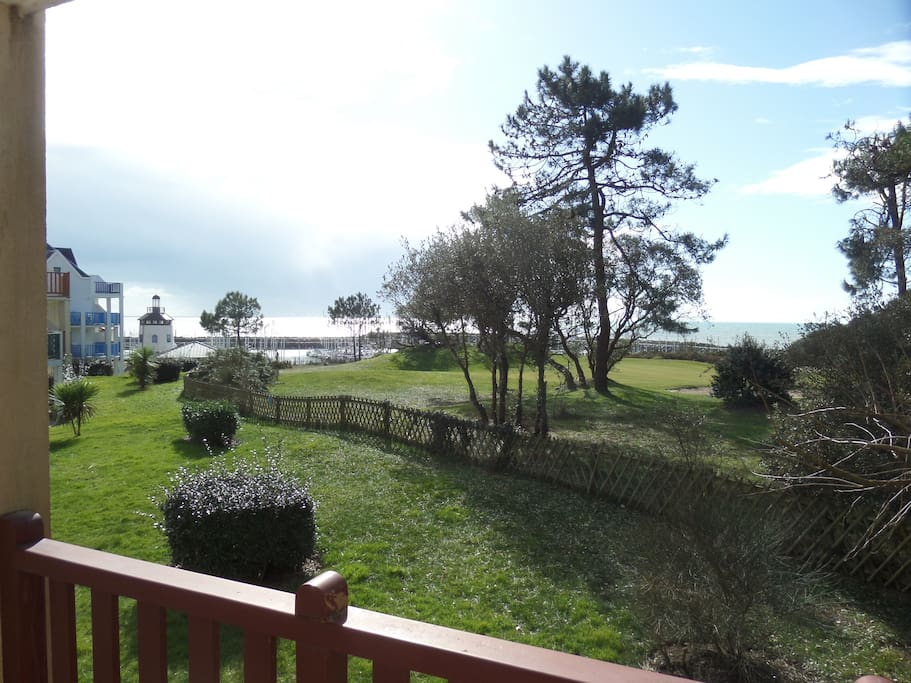 Terrasse vue mer, vue port, vue golf Port Bourgenay