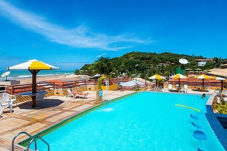 Pipa's Ocean - Flat com piscina frente ao mar - Pipa Beach