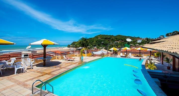 Pipa's Ocean - Flat com piscina na Praia do Centro
