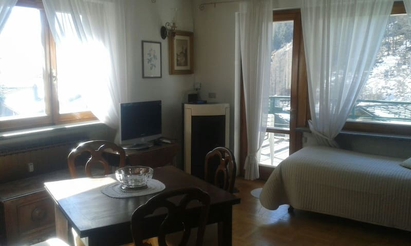 Bright apartment close to the ski-resort and shops - Valtournenche - Appartamento