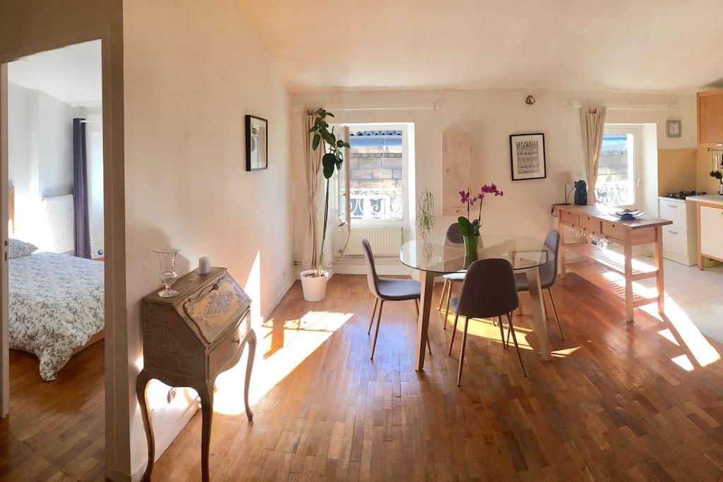 Charmant et lumineux t2 bis aux chartrons 55 m2 for Appartement bordeaux chartrons t2