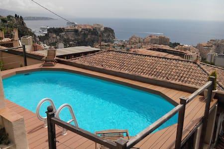 3 room-apartment, swimming pool, 2 terraces, BBQ - Cap-d'Ail - Loft