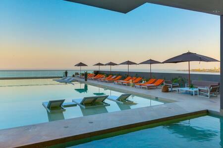 Moderno apartamento frente a playas de Bocagrande