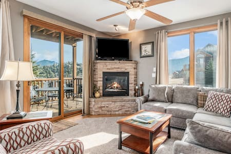 Mount Cirrus 10B - 2 Br condo with private hot tub, Marys Lake and mountain views