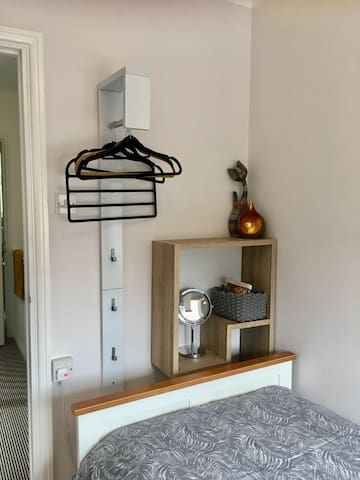 Hanging and storage in single room